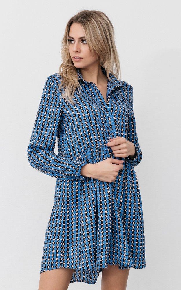 Kleid Scarlet Blau Schwarz Kleid Mit Langen Armeln