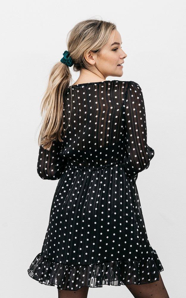 Kleid Marloes Schwarz Weiß | Kleid Mit Glitzerfaden Und ...