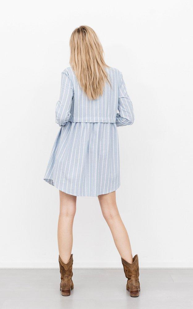Kleid Maike Weiß Hellblau | Niedliches Baumwollkleid Mit ...