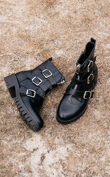Boots Celine - Boots with zips and buckles