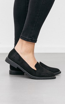 Loafer Mina - Loafers with silver coated studs
