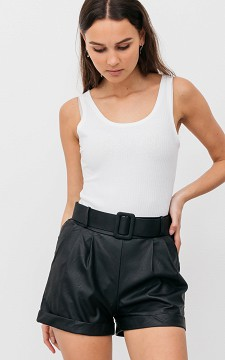 Shorts Cindy - Leather look shorts
