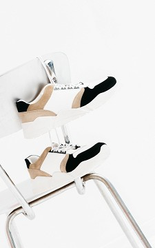 Sneaker Michel - Leather sneakers with thick soles