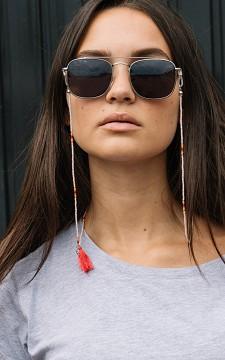 Brillenkoord Beads - Brillenkoord met kraaltjes en kwastje