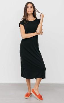 Jurk Amanda - Lange jurk met korte mouwen