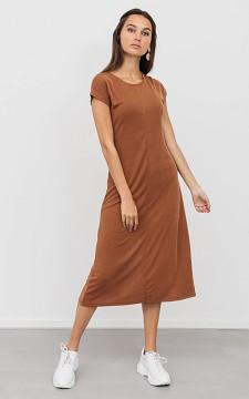 Kleid Amanda - Langes Kleid mit kurzen Ärmeln