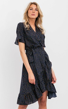 Dress Esther - Dress with crossed fabric