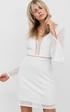 Kleid Whitney - Kurzes Kleid mit ausgestellten Ärmeln