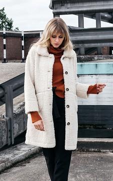 Jacket Femke - Teddy coat with fake fur
