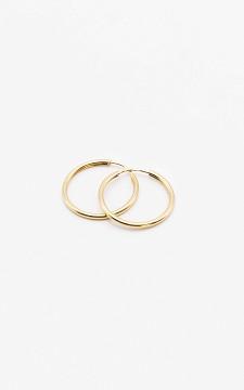 Earrings Lianne - Gold plated smaller hoop earrings