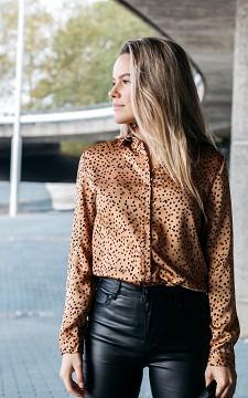 Blouse Alicia - Satin blouse with polka dots