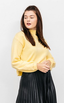 Sweater Jille - Cropped sweater with balloon-sleeves
