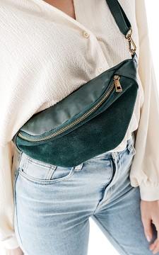 Hip Bag Ally - Leather and suède hip bag