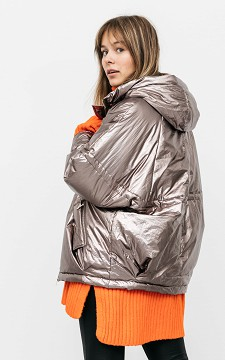 Jas Marijke - Glimmende jas met zakken
