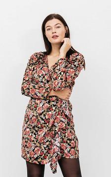 Kleid Marina - Kurzes Kleid mit goldfarbenen Details