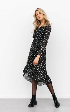 Kleid Marit - Midikleid mit Blätter-Design