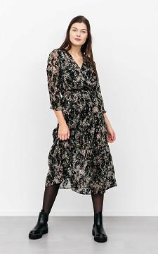 Dress Bart - Midi dress with velvet details