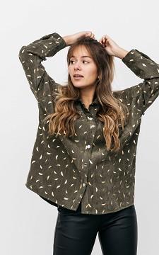 Bluse Karen - Bluse mit silberfarbenen Druckknöpfen