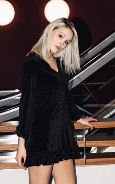 Dress Domo - Velvet dress with ruffles