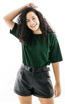 Top Dionne - Oversized glittery shirt