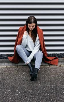 Mantel Nina - Langer Mantel mit zwei Taschen