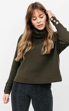 Pullover Vivian - Pullover mit goldfarbenen Zierknöpfen an den Ärmeln