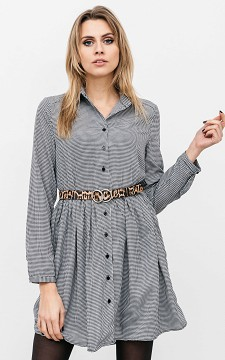 Dress Nolan - Patterned dress with buttons