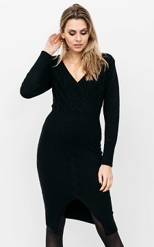 Dress Rose - Cable knit dress with split