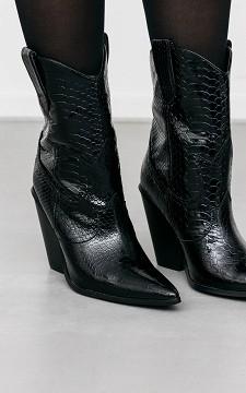 Stiefelette Esra - Cowboystiefel mit Krokodilprint