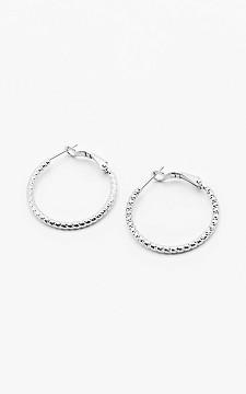 Earrings Quint - Stainless steel hoops