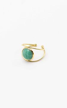 Ring Olga - Verstellbarer Ring mit buntem Stein