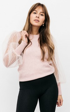 Sweater Marinde - Sweater with see-through sleeves