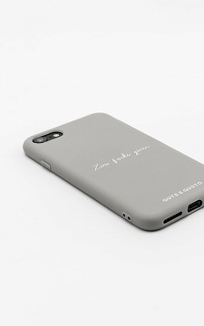 Phone Case Zero - Silicone iPhone case with text
