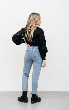Jeans Steven - Basic Mom Jeans mit hoher Taille