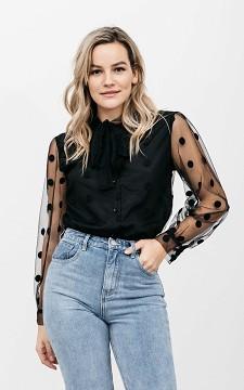 Blouse Tara - See through blouse met strikdetail