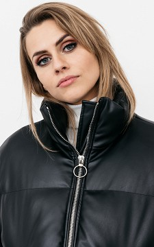 Jacket Claire - Leather look jacket with pockets