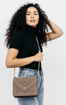 Tasche Nina - Ledertasche mit Nieten