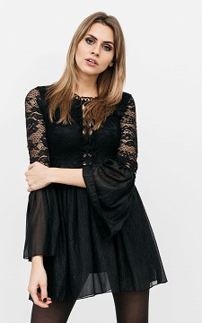Dress Isabelle - Short dress with see-through detailing