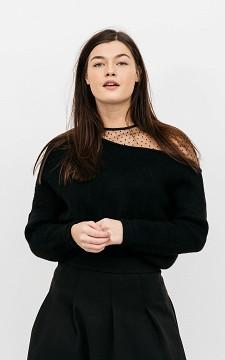 Pullover Lisette - Pullover mit transparenter Schulter