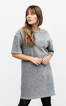 Dress Floortje - Oversized ribbed fabric dress