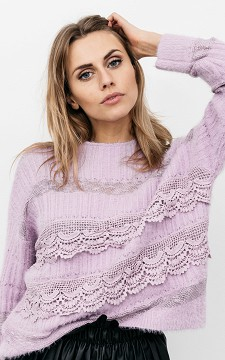 Sweater Dachel - Sweater with lace details