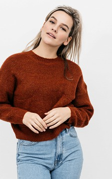 Sweater Mischa - Cropped sweater with pockets