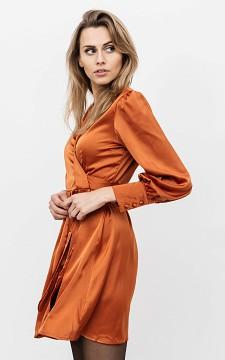 Kleid Lois - Wickelkleid im Satin-Look