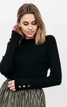 Pullover Jessie - Wohlfühlpullover mit Zierknöpfen