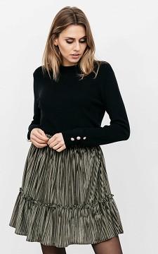 Skirt Yara - Ribbed fabric skirt