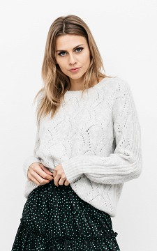 Sweater Lindy - Glittery sweater with round neck