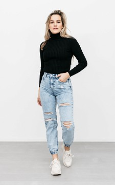 Jeans Marion - Ripped mid waist jeans