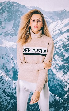 Sweater Piste - Sweater that reads off piste
