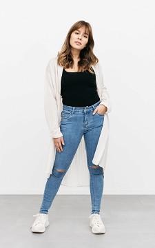 Jeans Martine - 5-Pocket skinny jeans met scheuren