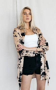 Blouse Eva - Oversized blouse with belt
